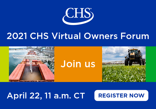 2021 CHS Virtual Owners Forum. April 22, 11 am CT. Register now. Home page promo.